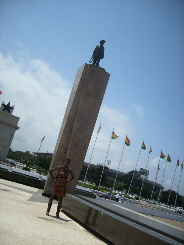 Me with the Unknown Soldier at Independence Square in Accra