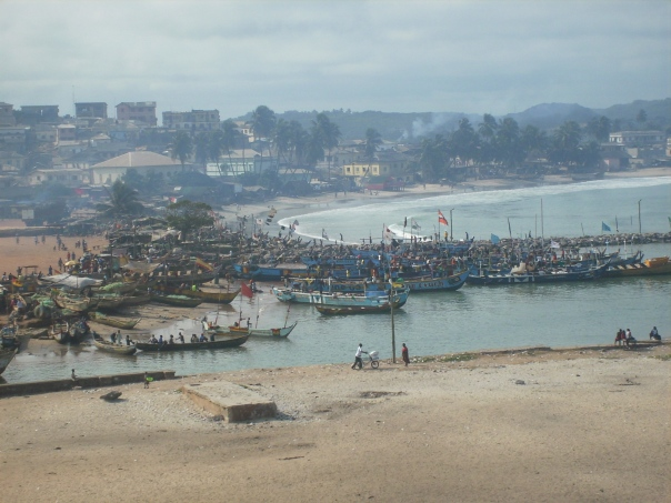 View of Elmina from the Castle's tower, Ghana - Aug. 23