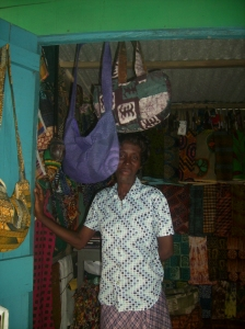 Sabina, the shopkeeper in Cape Coast - Aug. 23